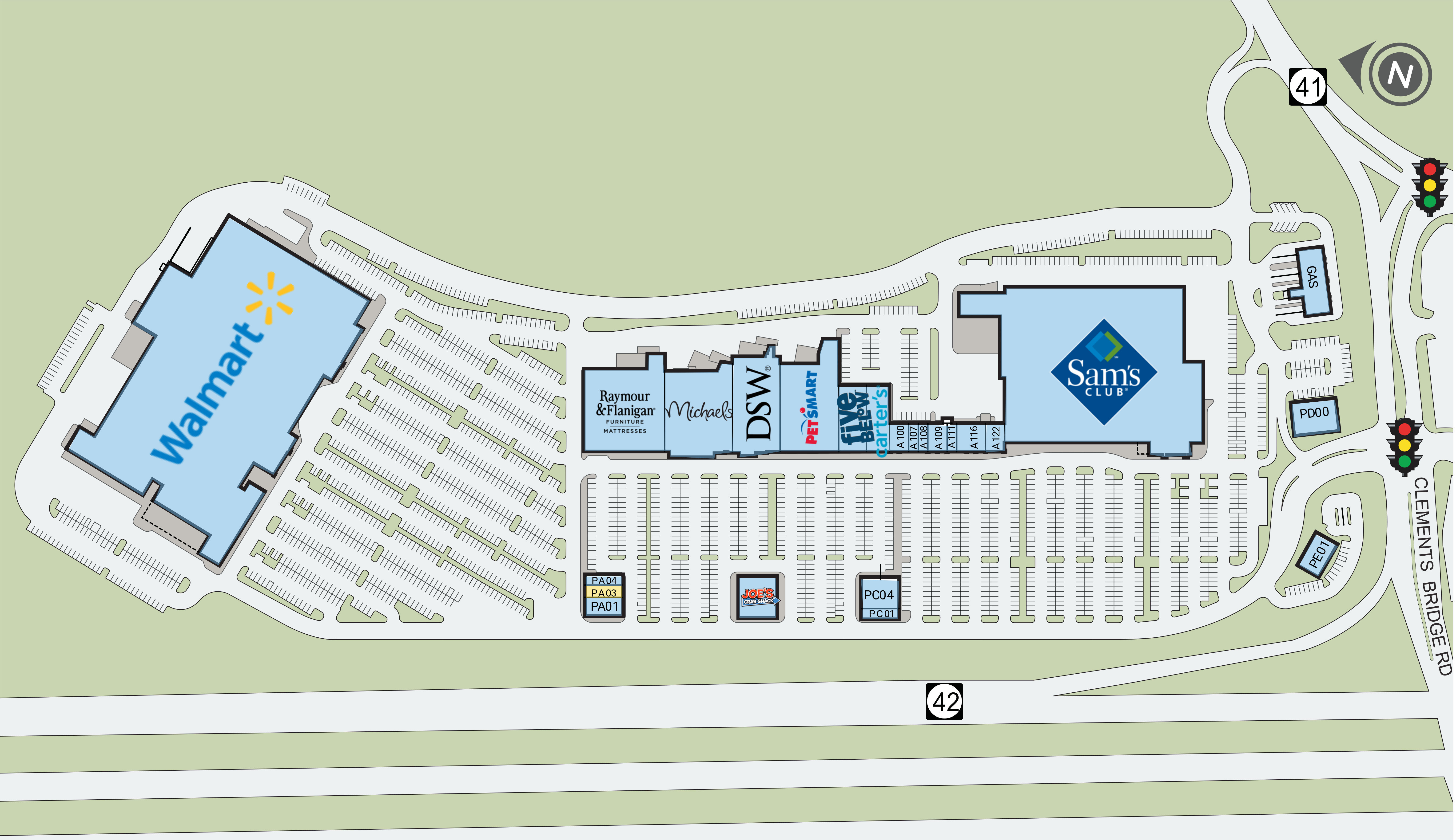 Deptford Mall Map on